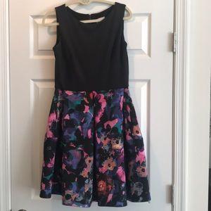 T. Taylor Floral Fit & Flare scuba dress